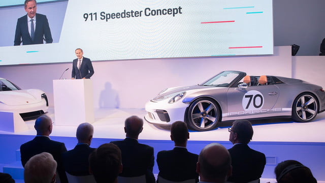 500hp porsche 911 speedster coming in 2019 as limited edition model 113879 1