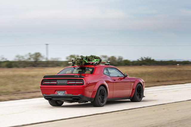 hennessey and dodge takes record for worlds fastest christmas tree 174mph 07