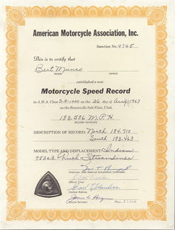 Indian Motorcycle sets three land speed records