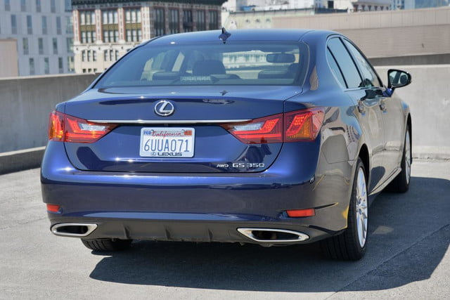 2013 lexus gs 350 review rear angle