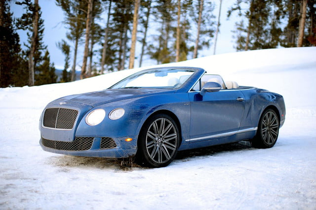 2014 Bentley Continental GT Speed blue front angle 2