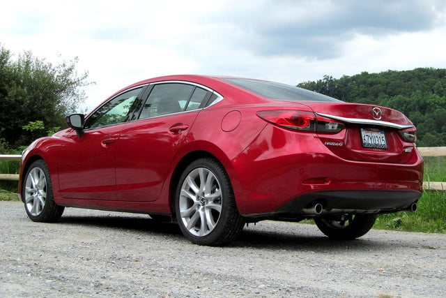 2014 mazda6 i touring review exterior back angle