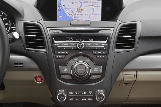 2015 Acura RDX first drive dash
