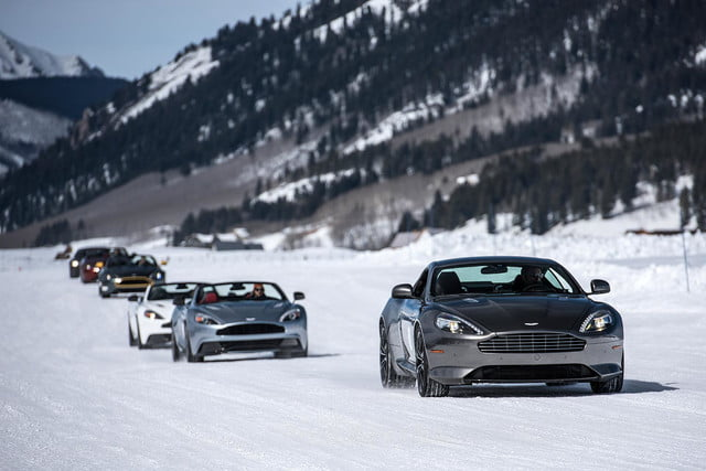 2016 aston martin on ice first drive 03 am track