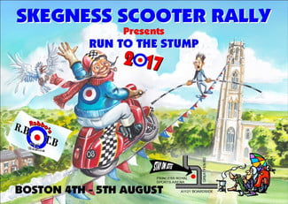 skegness scooter rally 2017 boston run to the stump