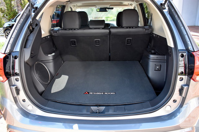 2018 Mitsubishi Outlander PHEV first drive review trunk