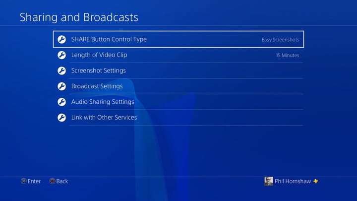 share menu settings how to record a gameplay video on ps4