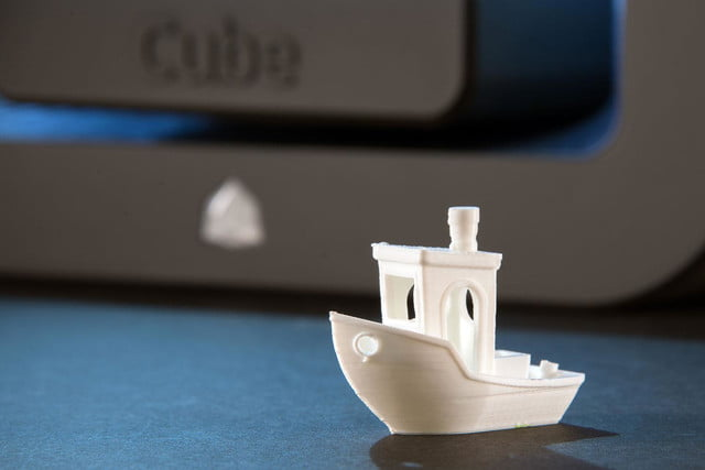 3D Systems Cube 3D Printer printed boat