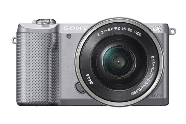 sony alpha a5000 mirrorless interchangeable lens camera photos wselp1650 front silver