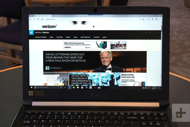 Acer Aspire 5 review browser
