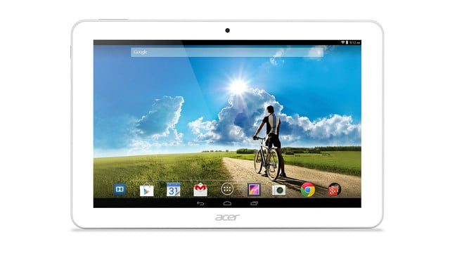 Acer Iconia Tab 10 front white