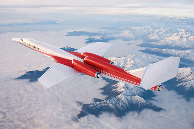 high speed concepts that could mark the return of supersonic travel aerion as2 in flight mountains hr