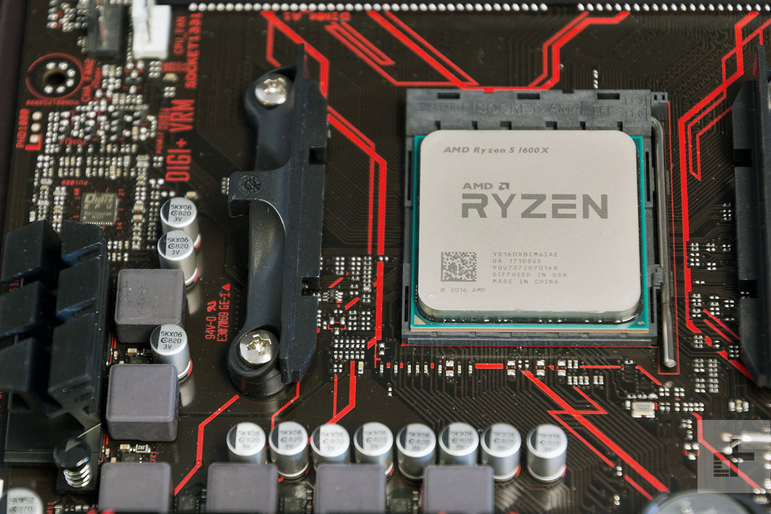 AMD Rizen CPU 1600X on board