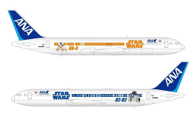 anas r2 d2 jet will be the closest to flying in a star wars spacecraft ana 767