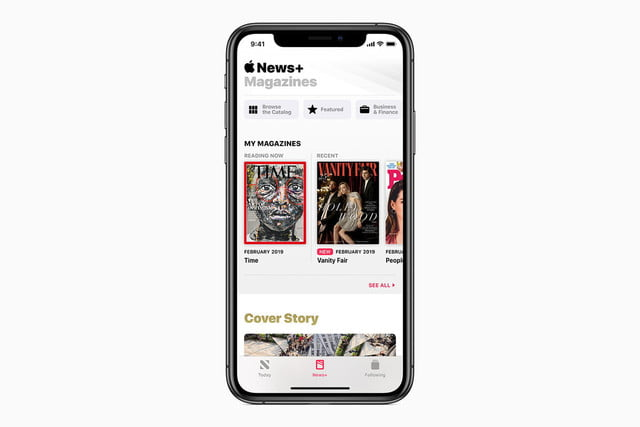 apple news plus magazines iphone screen 03252019