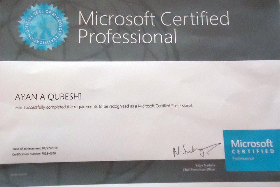 Ayan Qureshi Youngest To Pass Microsoft It Exam Digital Trends