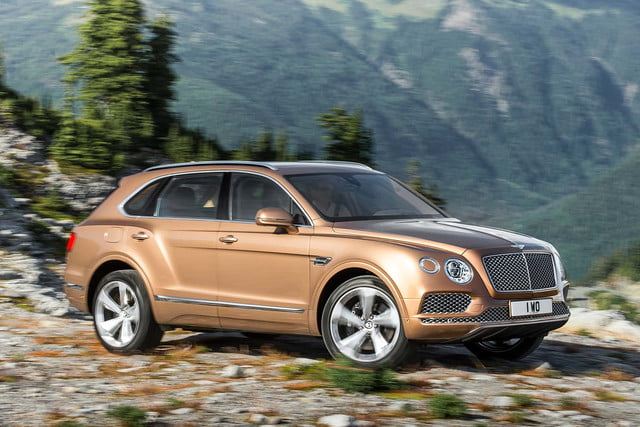 bentley says its bentayga suv can do it all but will customers bite  off road front three quarter