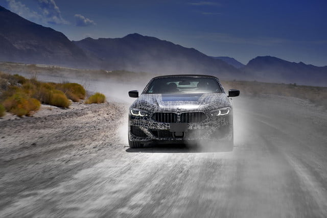 bmws tests its latest 8 series convertibles prototype in death valley bmw convertible testing  10
