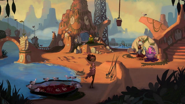 Broken Age Act I SS Girl Shell mound