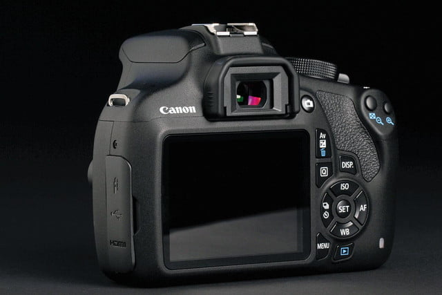Canon EOS Rebel T5 back angle