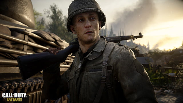 Call of Duty: WW2 review soldier rifle