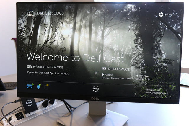 Dell Cast hands on homescreen