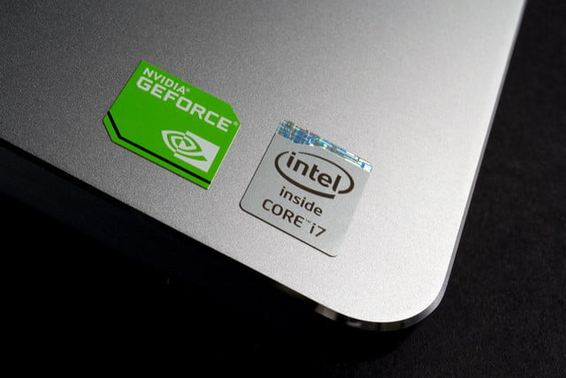 Dell Inspiron 15 7000 review Intel sticker
