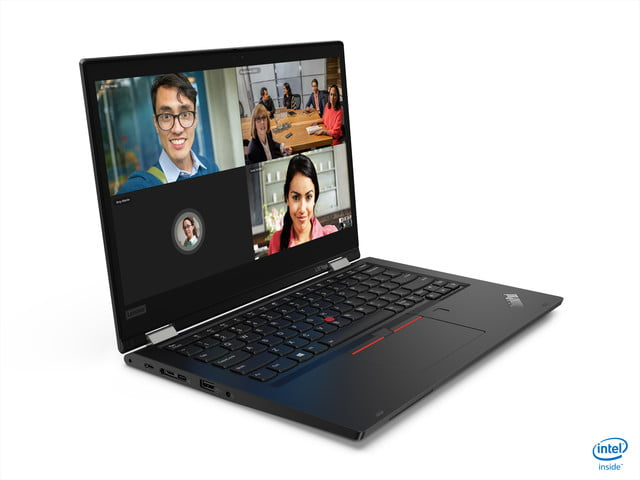 lenovo announces new thinkpad l x and t models for 2020 06 l13 yoga hero black front facing right
