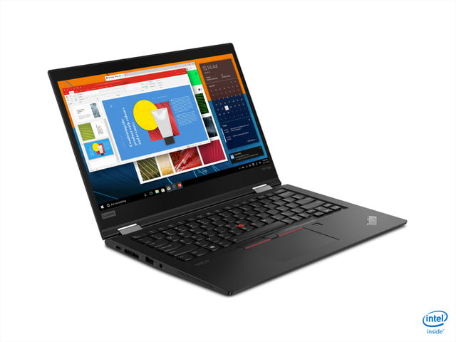 lenovo announces new thinkpad l x and t models for 2020 06 x13 yoga black hero front facing right
