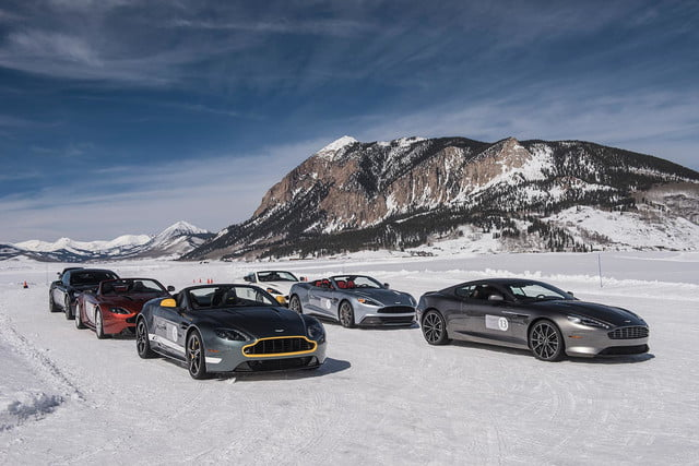 2016 aston martin on ice first drive 01 am track