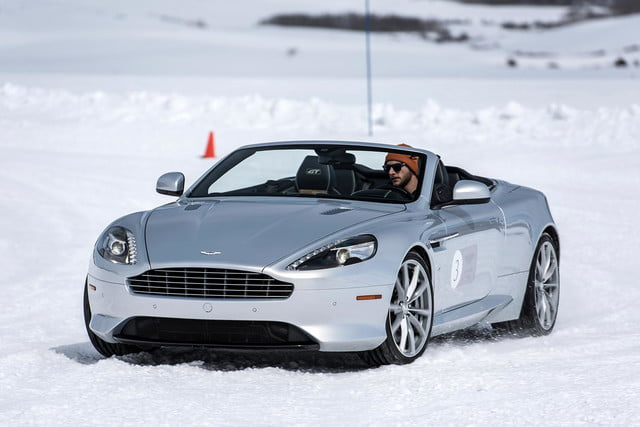 2016 aston martin on ice first drive 20 am track
