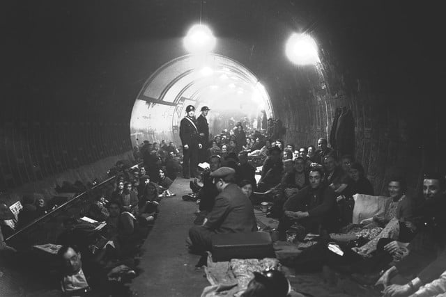londons underground farm 24 aldwych station london during the blitz oct 8 1940 01october 01