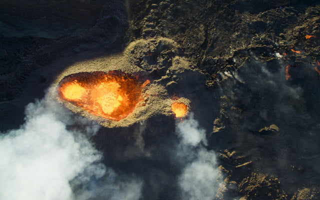dronestagram 2016 contest 3rd prize winner category nature wildlife piton de la fournaise