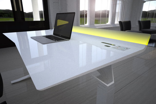 feature packed aerodesk standing desk 4a  white pro