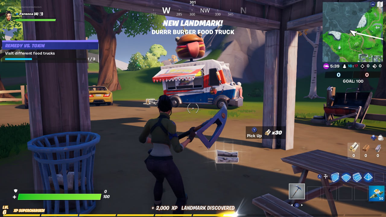 Fortnite Pleasant Park Food Truck