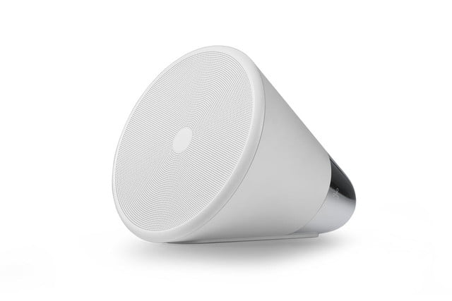 Aether smart speaker Cone white front left