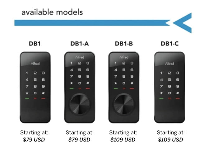 secure one touch control with alfred smart lock touchscreen deadbolt  models