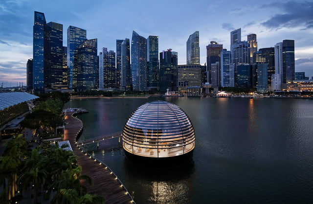 check out the stunning design of apples newest retail store apple  singapore 1