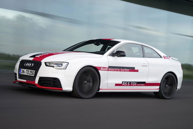 audis rs5 tdi concept uses electronic turbocharger developed le mans audi  press white right angled