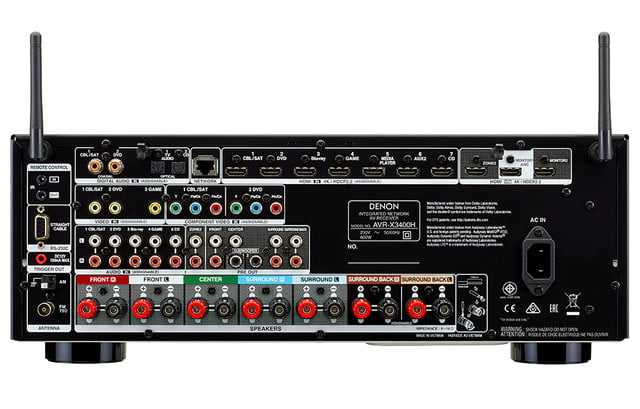 AVR X3400H av receiver back