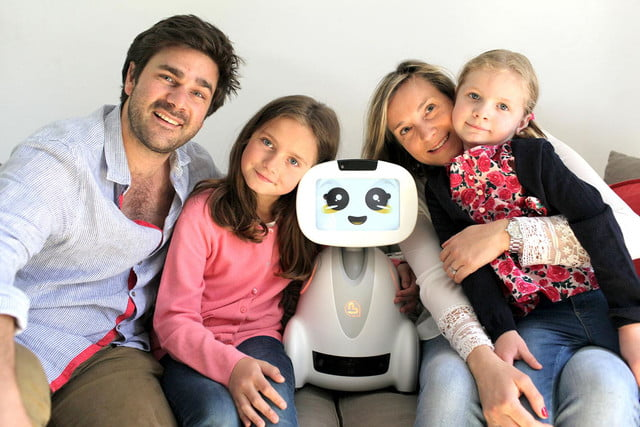 buddy companion robot hands on familly