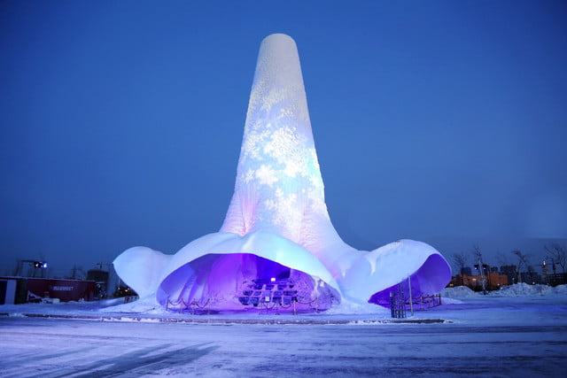 worlds tallest ice tower china 2018 by maple village