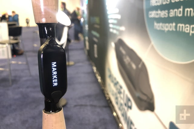 cyberfishing smart rod sensor allows fishing rods to record catches ces 2019 4