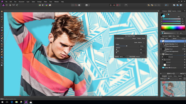 affinity photo windows debut depthoffield