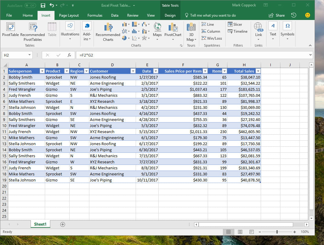 How To Create Pivot Table In Excel >> How To Create A Pivot Table In Excel To Slice And Dice Your
