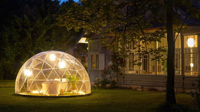 the garden igloo is a geodesic dome for your lawn 001