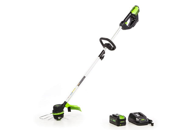 amazon deals on greenworks pressure washers and yard tools 14 inch 40v brushless string trimmer  3ah battery charger included