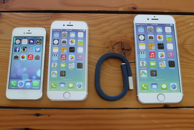 iphone 6 plus size comparison iphone6 jawbone up 24