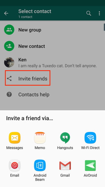 how to add a contact in whatsapp invite friend android2
