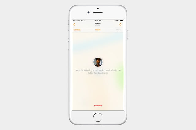 how to use find my friends ios 10 stopsharing